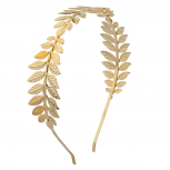 Goldtone Leaves Hard Head Band