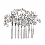 Flowers and Pearls Hair Comb