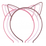 Shades of Pink Cat Ear Headband For Girls Party Favor Set 3PC