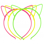 Shades of Neon Cat Ear Headband For Girls Party Favor Set 3PC