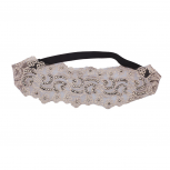 Light Grey  Bling Lace Headband