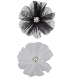 Chiffon Flower Hair Clips (2PC)