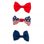July 4th Independence Day Patriotic Bow Red Pack (3PC)
