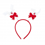 Red Christmas Reindeer Bopper Headband Holiday Party Accessory