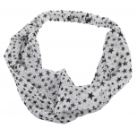"White ""Stars"" Knotted Head wrap"