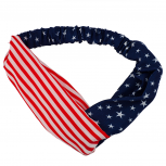 Small Print Patriotic July 4th Independence Day Head wrap