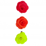 Fabric Flower Clips Green Coral (3PC)