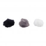 Multicolor Pom Pom Hair Clips Hair Accessories for Girls 3PCS