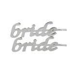 "Silvertone Bridal ""Bride"" Hair Bobby Pin Set (2PC)"