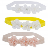 Pearl Flower Baby Girl Infant Hair Accessories Headband Set 3PC