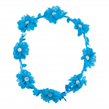Blue Polka Dot Glitter Flower Crown Hair Headband Girls