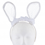 White Furry Bunny Rabbit Ears Costume Halloween Headband
