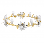 Gold Silver Tone Special Occasion Bridal Coachella Flower Crown