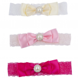 Bow Baby Girl Infant Hair Accessories Headband Set 3PC