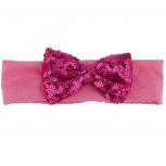 Hot Pink Sequin Bow Baby Girl Infant Hair Accessories Headband
