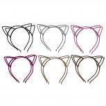 Multicolor Glitter Trendy Cat Ear Headband Accessories 12PC Set