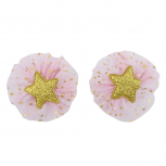 Pink Star Glitter Baby Girl Infant Hair Accessories Clip Set 2PC