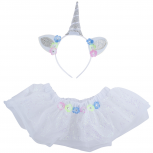 Halloween Flower Unicorn Baby Girl Infant Size Costume Set 2PC