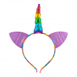 Rainbow Caticorn Unicorn Cat Ear Headband For Girls