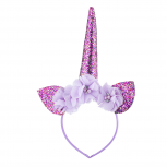 Purple Kids Caticorn Unicorn Rainbow Flower Crown Headband