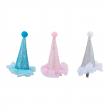 Multicolor Party Hat Cake Smash Infant Girls Hair Clips 3PC