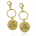 You Are My Sunshine Only Sunshine BFF Best Friends Forever Matching Keychain Set (2 PC)