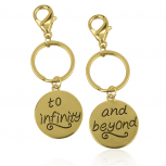 To Infinity & Beyond BFF Best Friends Forever Matching Keychain Set (2 PC)