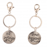 Rose Gold Tone To Infinity And Beyond Best Friend Keychain Set