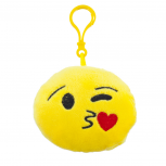 Yellow Emoji Kissy Novelty Face Fabric Pillow Bag Charm KeyChain