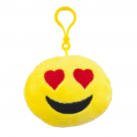 Yellow Emoji Love Struck Face Fabric Pillow Bag Charm KeyChain