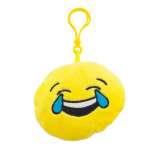 Yellow Emoji lol kek Face Fabric Pillow Bag Charm KeyChain