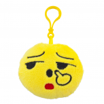 Yellow Emoji Fuck You Face Fabric Pillow Bag Charm Key Chain