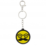 Yellow Glasses and Mustache Disguise Emoji Bag Charm Keychain