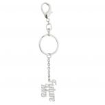 SilverTone Bridal Future Mrs Wedding Verbiage Keychain Bag Charm