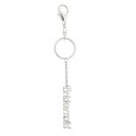 SilverTone Bridal Bridesmaid Wedding Verbiage Keychain Bag Charm