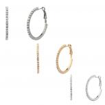 Pave Multi Hoop Earring Set