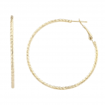 Gold Tone Fashion Classic Cut Diamond Cut Hoop Earrings Women