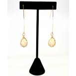 Dangle Teardrop Ivory Stone Earrings