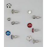 Kids, Girls & Women's Blue & Red Soccer & Flower Stud Earring Set