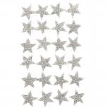 SilverTone Pave Rhinestone Star Glitz Multi Earring Set 12PC