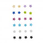 Assorted Color Rhinestone Star Glitz Multi Earring Pack 12PC