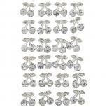Silver Tone Faux Rhinestone Cherry Fruit Multi Earring Set 20PC
