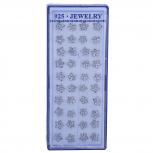Silver Tone Faux Rhinestone Floral Flower Multi Earring Set 20PC