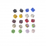 Multicolor Cube Shape Birth Stone Rhinestone Earring Pack 10PR