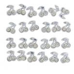 Silver Tone Faux Rhinestone Cherry Fruit Multi Earring Set 12PC
