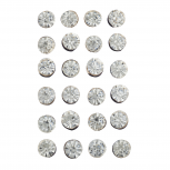 Gold Tone Solitaire Crystal Faux Rhinestone Earring Pack 12PC