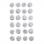 Silver Tone Solitaire Crystal Faux Rhinestone Earring Pack 12PC