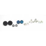 Moon Star Stud Earrings Set (12 Piece)