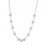 Faux Pearl Fireball Studded Statement Necklace