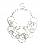 All Circles Multi Chain Link Statement Necklace